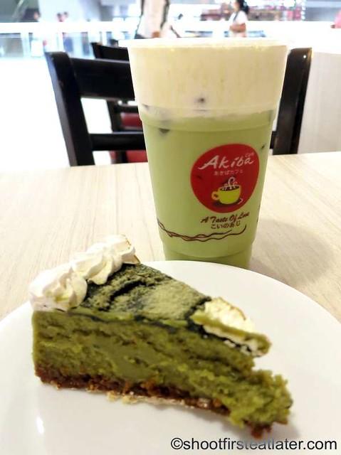 Akiba Cafe- green tea cheesecake & matcha trifle