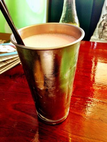 Strawberry milkshake at Run Amuk