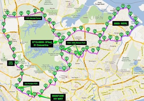 Casuarina Rd prata, NERL, Bishan Park and Mandai forest this Sunday, 18 Mar 2012