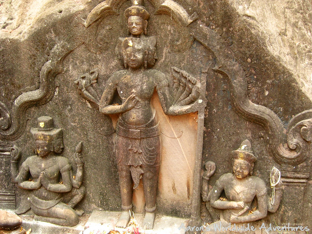 Carvings at Wat Phu Campasak