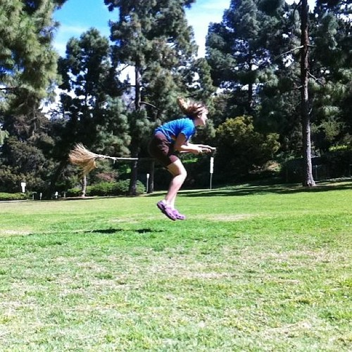 And then we practiced quidditch. #pjuniversity #fastcamera Contrast adjusted in #snapseed
