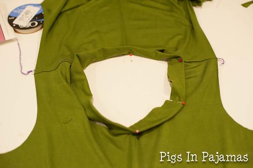 Collar pinned