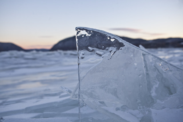 Icing on the Hudson River from Plum Point Park