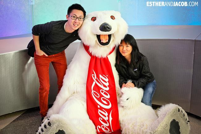 Coca-cola polar bear World of Coca Cola Museum | Tourists at Home Atlanta Edition