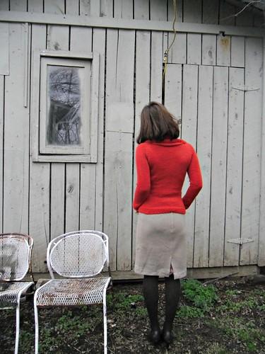 Red Cashmerino Cowl
