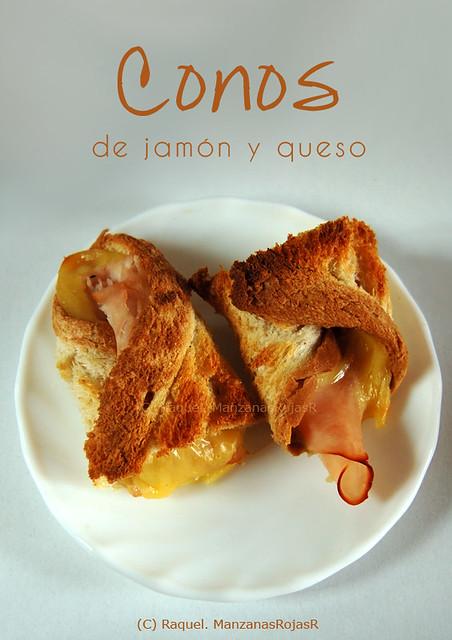 Conos de jamón y queso