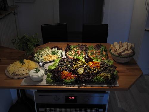 Vegetarisches Antipasti-Buffet