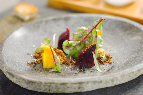 roasted beets aromatic spices and fresh tarragon