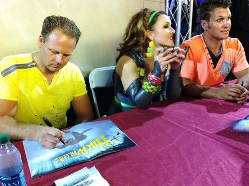 Nike Wallenda, Erendira Vazquez Wallenda, and Blake Wallenda Sign Autographs Following the Show, Circus Sarasota, Feb. 15, 2013