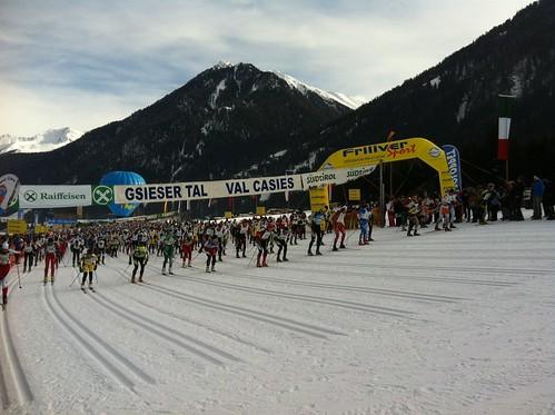 Gsiesertal-Lauf, Start des Skatingrennens