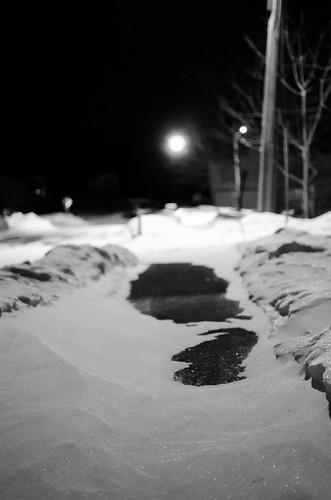 Sidewalk Snow Drift
