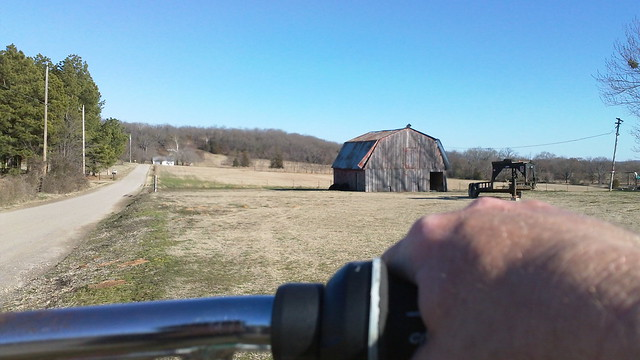 barn on a bicycle ride