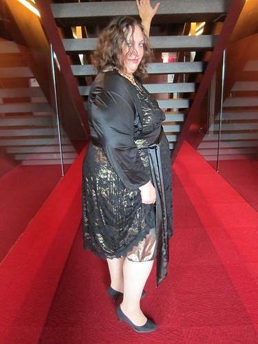 Photo Shoot: Di in Igigi Black Lace Dress