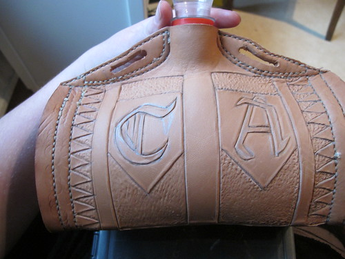 leather costrel 15