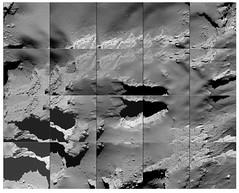 Comet landing site