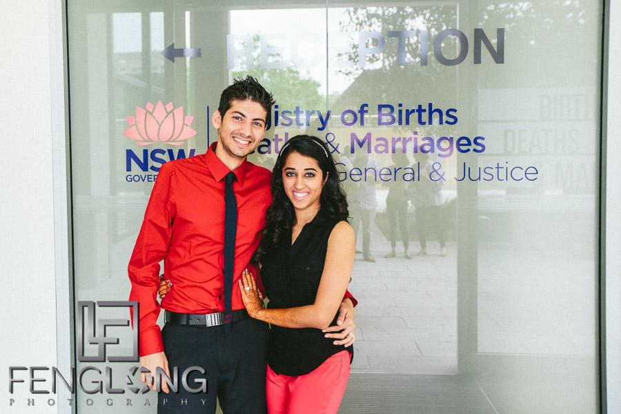 Natasha & Karim's Civil Ceremony | Parramatta NSW Government Office | Sydney Destination Indian Ismaili Wedding Photography