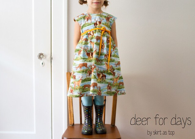 deer for days geranium dress