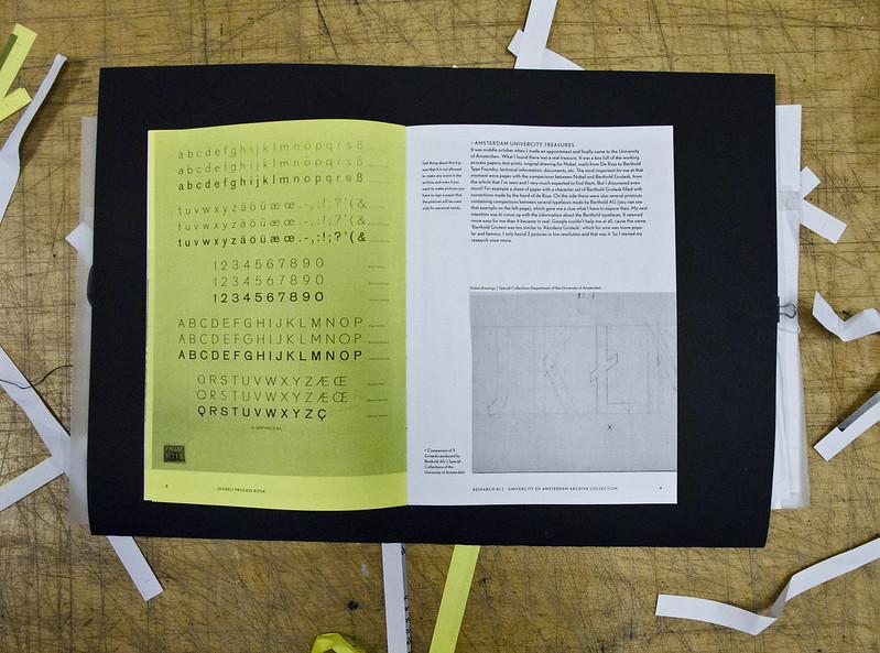 Berhold Grotesk — Nobel revival essay book / specimen