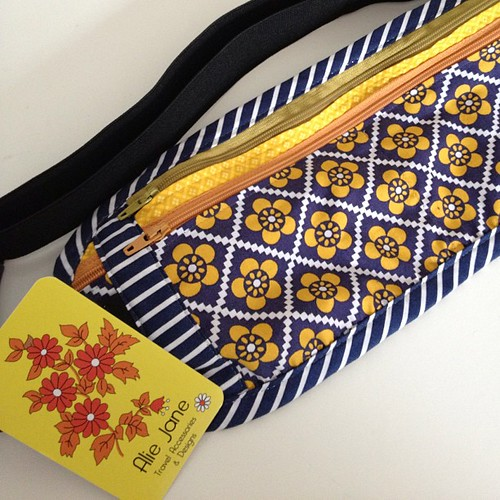 My awesome new travel belt from Alie Jane Travel Accessories and Design. Bartered for some of my crafty goods!