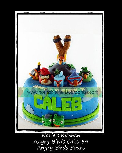Norie's Kitchen - Angry Birds Space Cake 59 by Norie's Kitchen