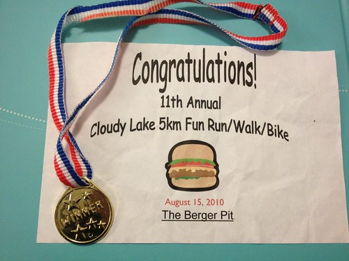My first running medal and certificate
