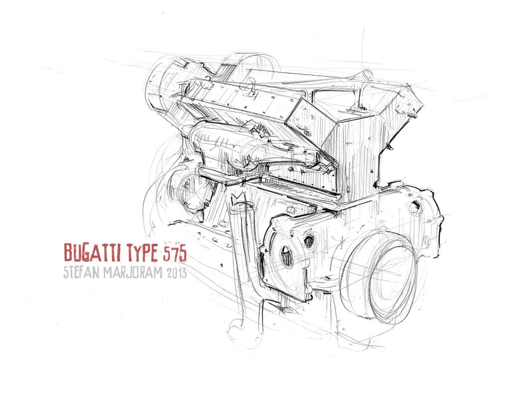 Bugatti Type 575 :: By Stefan Marjoram