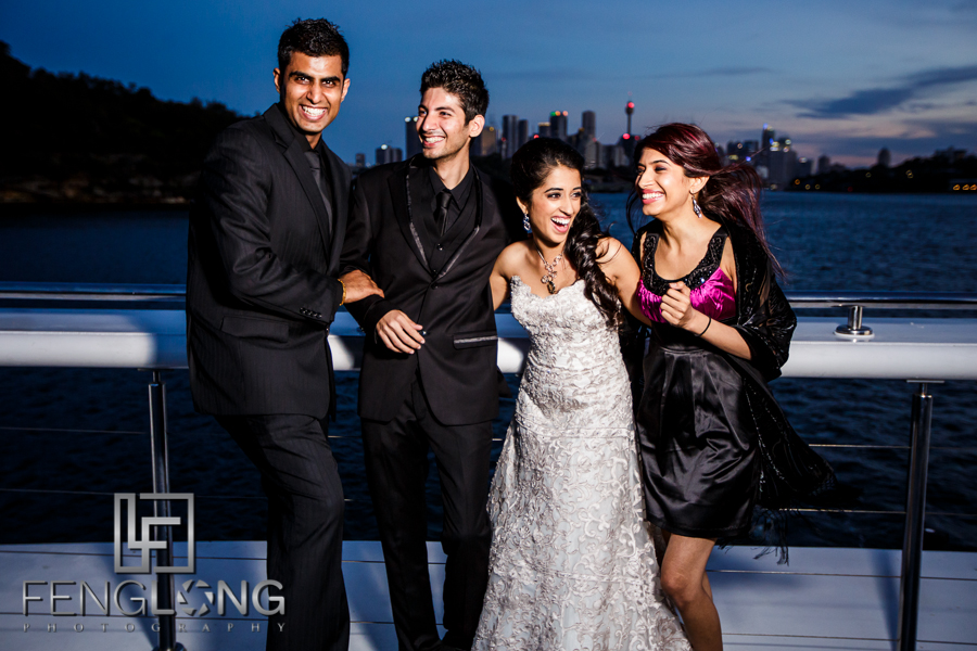 Natasha & Karim's Reception Cruise | Sydney Harbour Circular Quay | Sydney Destination Indian Wedding Photography