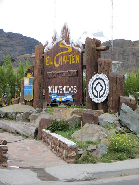 El Chaltén entrance sign