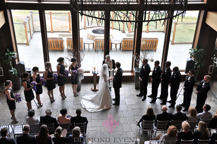 Wedding ceremony at Primland Resort