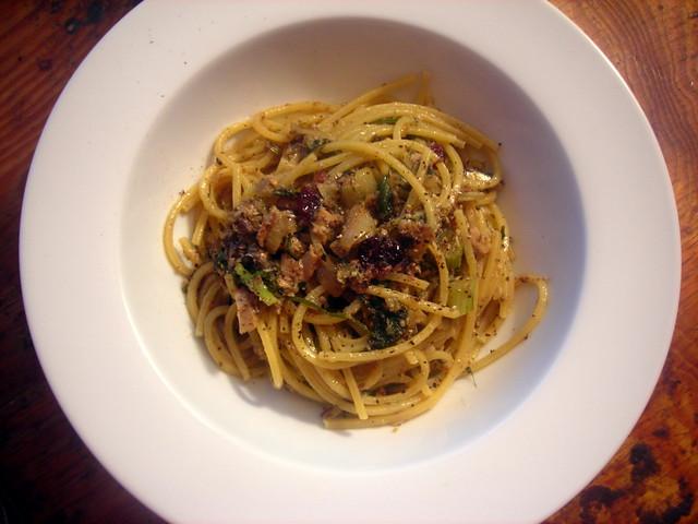 Spaghetti con le sarde e finocchio