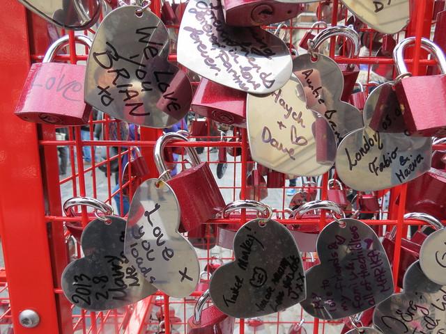 Love locks in Covent Garden
