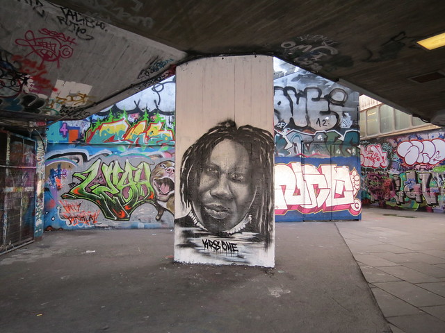 Southbank graffiti and street art - KRS ONE