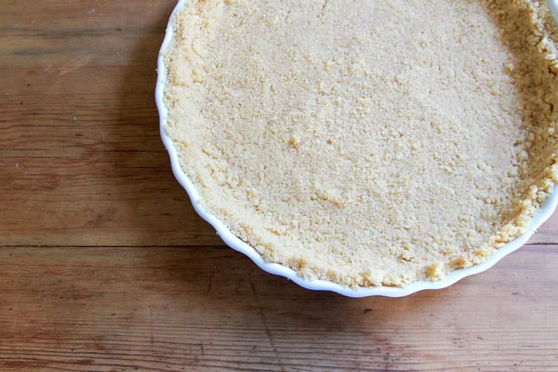 shortbread crust, chocolate tart