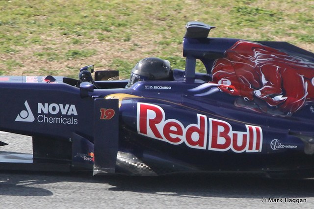 Daniel Ricciardo in his Toro Rosso at Formula One Winter Testing 2013