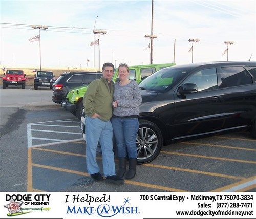 Congratulations to Robert Easley Jr on the 2013 Dodge Durango by Dodge City McKinney Texas