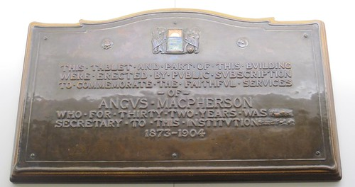 Angus Macpherson Plaque.  North Riding Infirmary