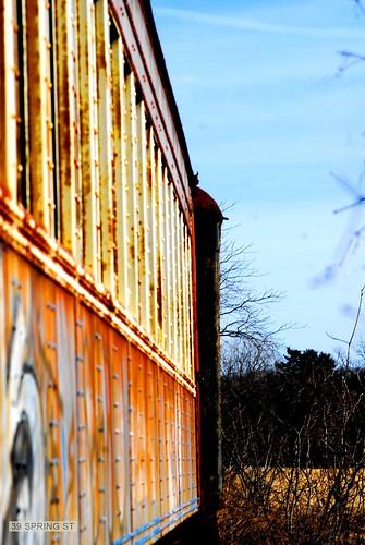 Abandoned Train (Kingston, NY) by 39springst