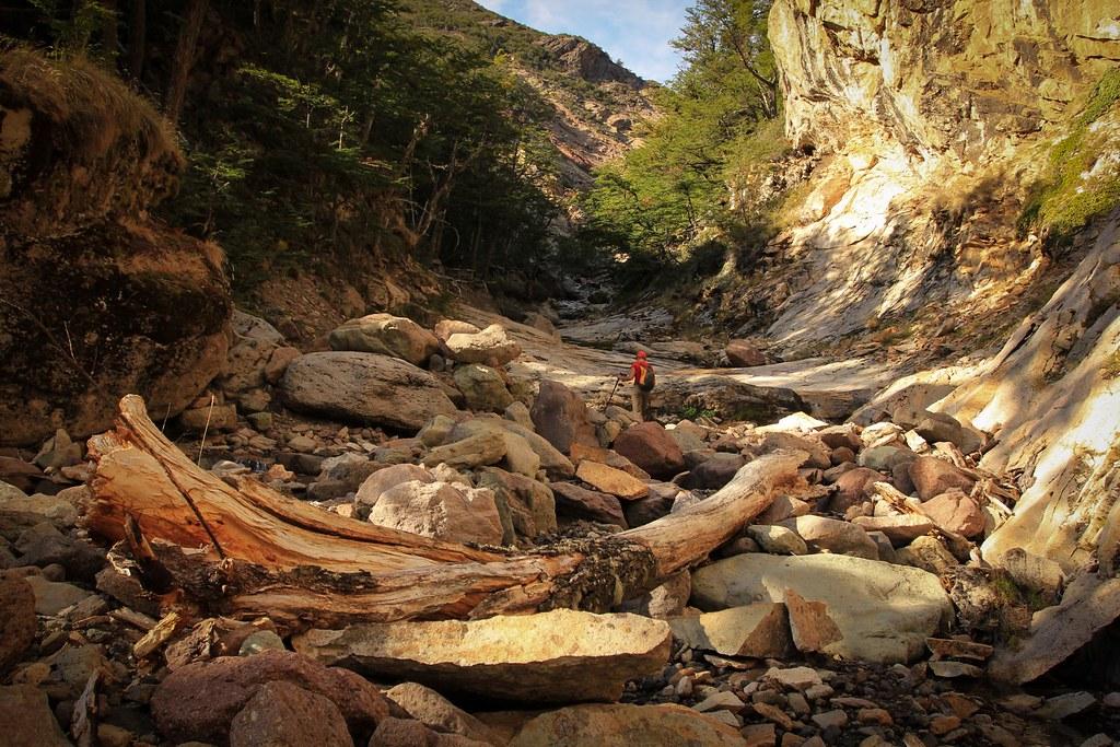 Exploring up side valleys. Valle Hermosa. RN Jeinimeni. Future Patagonia National Park. Aysen, Chile.