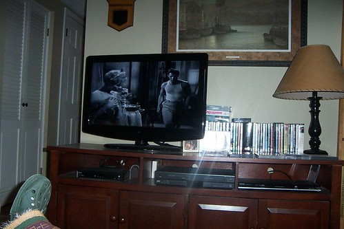 The classic movie for today, A Streetcar Named Desire, Vivien Leigh and Marlon Brando on the screen...