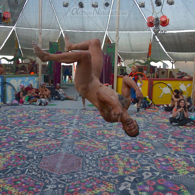 naturist capoeira 0019 Burning Man 2012, Black Rock City, NV, USA
