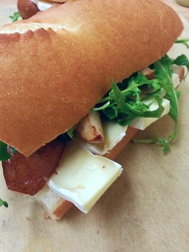pear, brie,and arugula sandwich by pipsyq