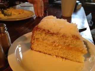 Coconut apricot cake, Vennels Café, Durham