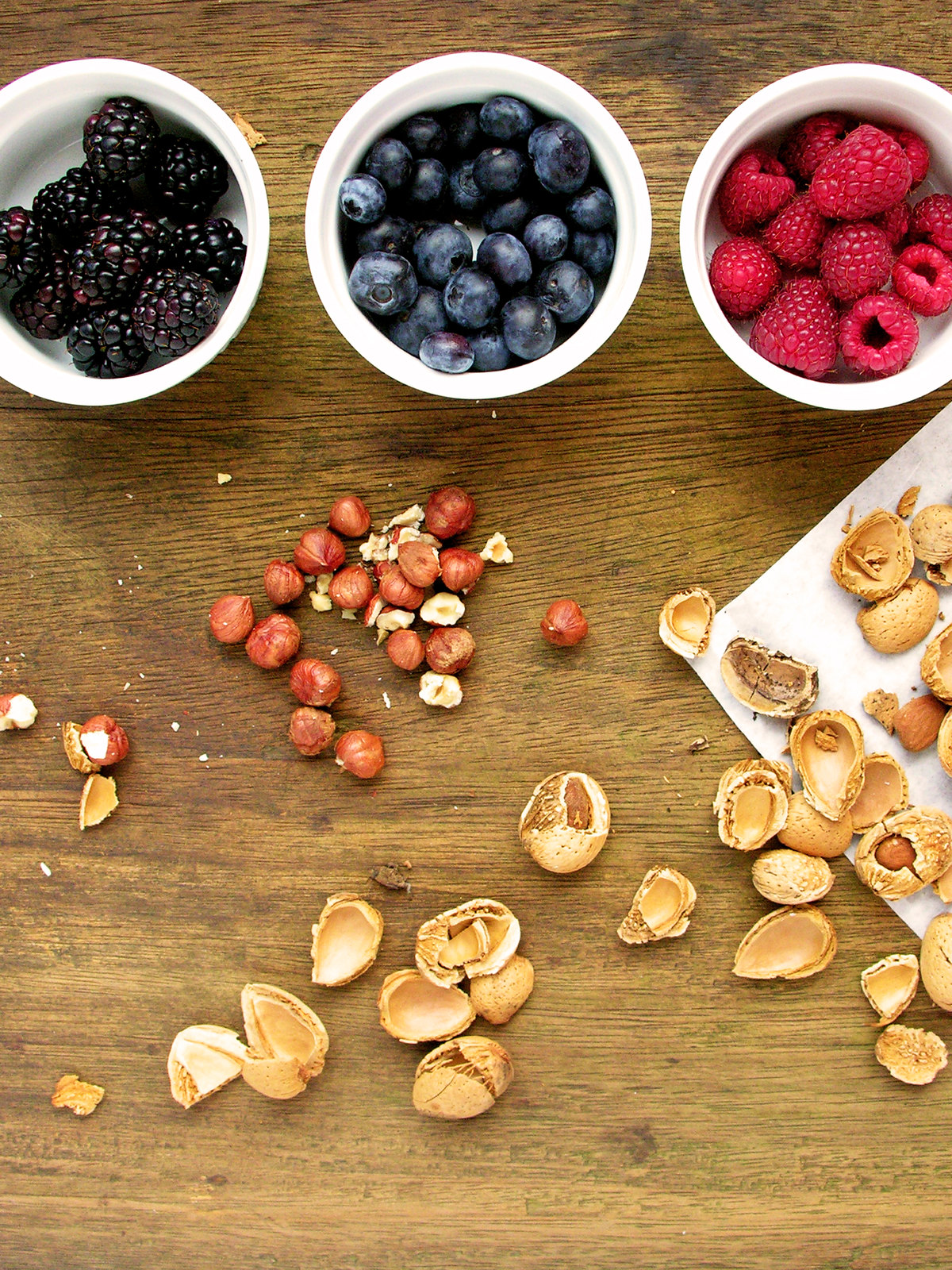 frutos secos, frutos silvestres