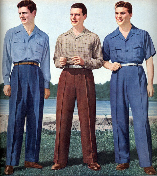 Image result for 1940s casual menswear
