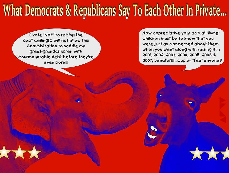 ELEPHANT _DONKEY POLITICS_DEBT CEILING