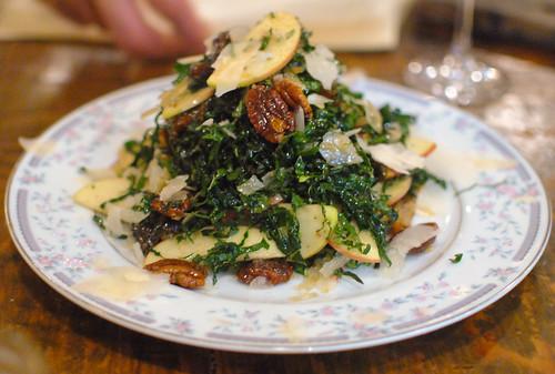 Kale Salad, Apple, Dates, Pecan, Sheep's Cheese