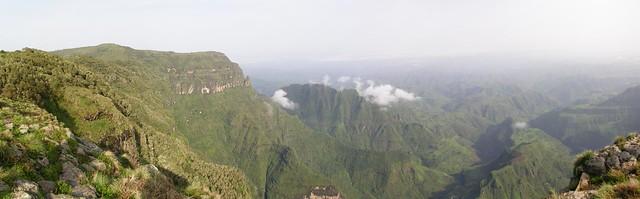 Panorama desde las alturas de Simien
