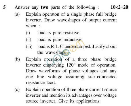 UPTU B.Tech Question Papers - TEE-603-Power Electronics