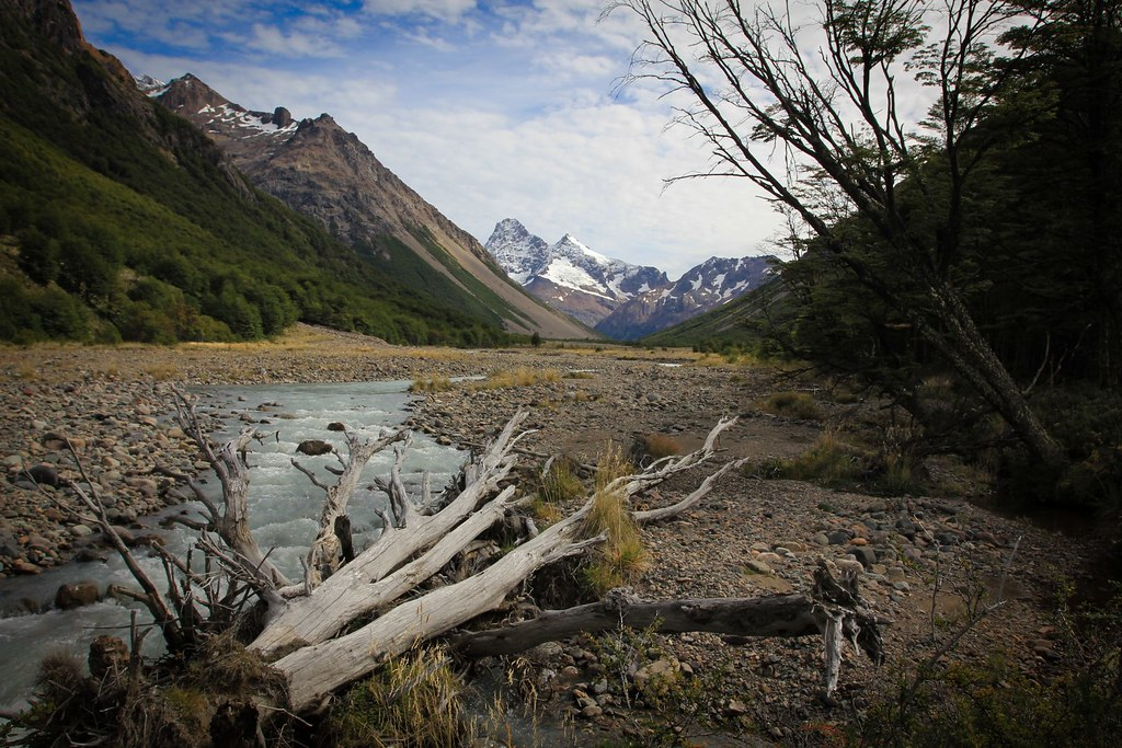 Hiking up north into the wild Jeinimeni Reserve. Future Patagonia National Park. Aysen, Chile.