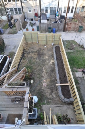 Backyard aerial after fence